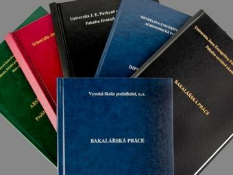 Tisk a vazba diplomových prací