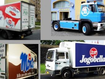 Polepy nákladních automobilů